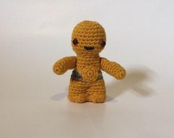 Ready to ship - Crocheted C3P0 - Star Wars Robot - Stuffed Animal - Amigurumi