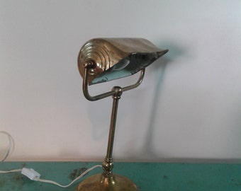 Art deco brass desk lamp, from the 20s, vintage  office lamp, office lamp, office decor