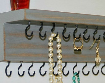 Necklace Holder/ Jewelry Organizer/ Necklace Storage/ 27 Hooks