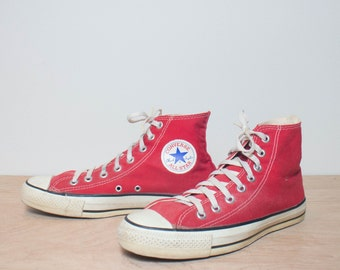 8.5 | Red High Top Converse Chuck Taylors