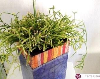 Ceramic Raku Planter - Succulent Planter