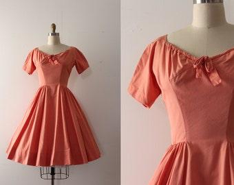 vintage 1950s Anne Fogarty dress // 50s cotton dress
