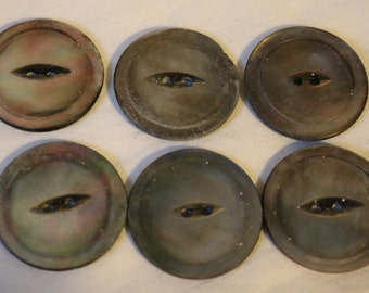 Abalone gray buttons mother of pearl buttons
