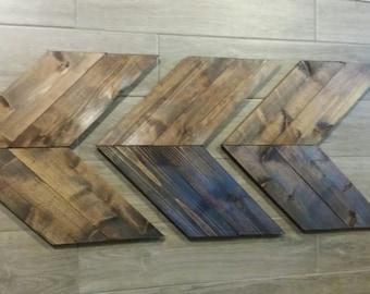 LARGE Cedar Rustic Chevron Arrows Natural Wood Arrows Rustic Wall decor