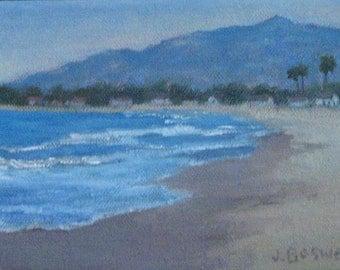Carpinteria California Padaro Beach Gift for Him or Her Landscape Original Oil Painting Seascape Modern Impressionist  Jennifer Boswell
