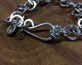 Sterling link bracelet, sterling silver soldered