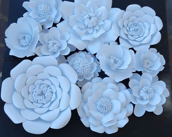 Large White Paper Flowers Extra Large Paper Flower Photo Prop Backdrop Decor DIY Backdrop  Ready to Ship RTS
