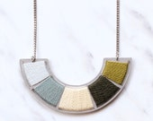 Necklace, Stainless steel necklace, long necklace, colourful necklace, colorful necklace, statement necklace, eco jewellery