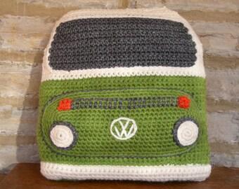 Knitting Pattern Knit a Bay Campervan Cushion based by SnuginaDub