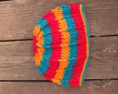 Mr. Stripey winter hat, crochet