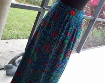 Amazing Anne Fogarty Print Skirt