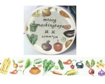Vegetable Washi Tape (30mm X 5M)