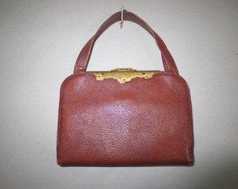 SALE***Victorian Leather Purse // Patented Oct 24, 1893 // Inside Pockets, Brass Hardware