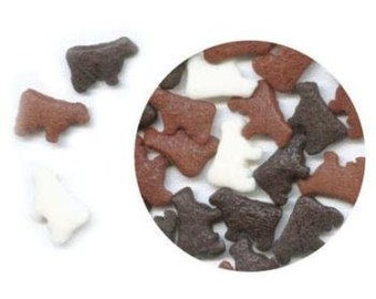 Cow Edible Confetti Sprinkles Cake Cookie Cupcake Birthday Party Favors  1 Pound