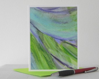 Modern Art Watercolor Card // Printed Art Notecards