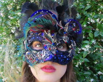One of a Kind - Multi and Black Masquerade Collectible Mask