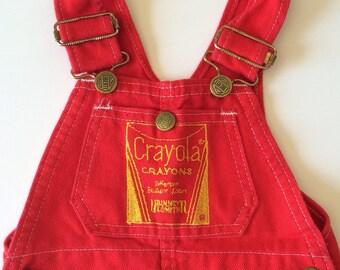 Vintage Crayola Crayons Overalls (12 months)