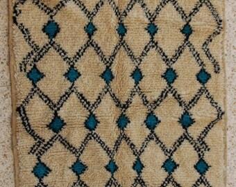 "265X110cm (8' 7""X3' 6""feet)FREE SHIPPING WORLDWIDE AZ27064 Azilal ,Ourika ,Beni Ourain vintage berber rug Morocco,wool carpet , boucherouite"