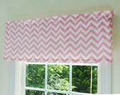 Little Girls Window Treatments Chevron Pink