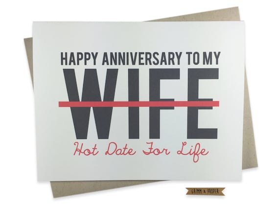 Funny Anniversary Card for Wife Wedding Anniversary Card to – Funny Wedding Anniversary Cards
