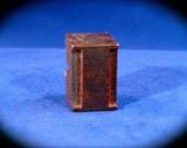 "Vintage Letterpress ""I"" Letter Wood Block Type Printing Stamp Typeface Font Printing Design Mixed Media Art Rare Industrial Decor Initial"