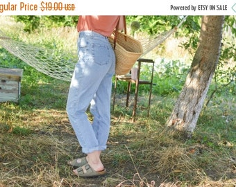 SALE High Waisted Denim Pants Mom Jeans Vintage 80's womens jeans