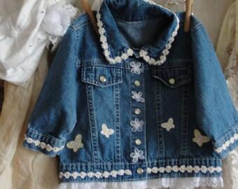 Baby jean jacket, jean jacket, baby jacket, baby clothing, jean jackets, baby denim jacket, upcycled clothing