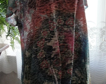Reserved       Boho bohemian top with tie dye look, ties in back, hippie, gypsy, festival