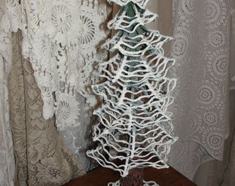 Shabby Christmas tree handmade with metal
