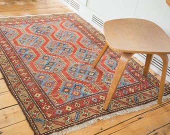DISCOUNTED 4x5 Vintage Northwest Persian Square Rug