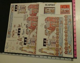 Seaport Box Purse Pattern opened