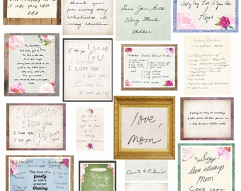 Custom Handwriting Handwriting Gift Personalized Handwriting Gifts Grandma Gift Mom Memorial Gift Funeral Customized Gift for Her Lily Cole