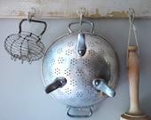 French Vintage Aluminum Pasta Colander French Strainer French kitchen