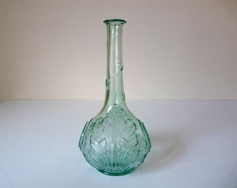 French Antique Carafe French Vintage Bottle for French Aperitif Glass Eau de Nil Color