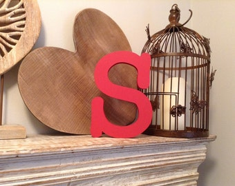 Hand-painted Wooden Letter S - Freestanding - Typewriter Font - Various sizes, finishes and colours - 30cm