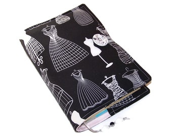 Book Cover for Small to Medium Books, in Dress Forms fabric, Bible Cover, Book Wrap, UK Seller