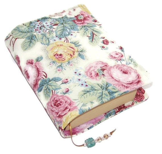 Fabric Paperback Book Covers With Handles : Handmade bible cover fabric book shabby by
