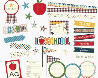 school clip art clipart digital - Back To School Digital Clipart