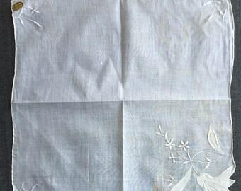 Vintage Unused Ivory Handkerchief 1221