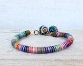 Rope Bracelet - Hippie Fiber Bracelet - Unique Handmade Jewelry - Bohemian Jewelry - Stackable Bracelet - for Woman
