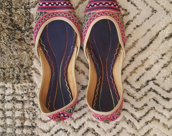 Colorful Indian Ballet Flats Women's Size 10