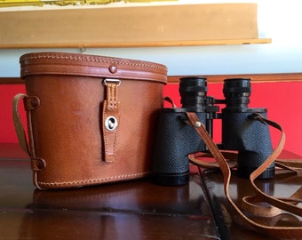 Vintage Tasco Imperial Field Glasses Vintage Binoculars with Leather Case Mid Century Cool 7 x 35 mm
