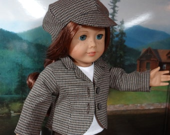 Classic jacket and beret for American Girl or similar 18 inch doll.