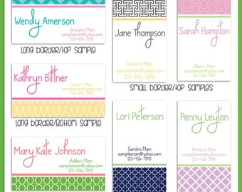 MOM calling cards, PLAYDATE cards, personalized business cards, Cards for Mom, playdate, set of 8, Parent Contact Cards