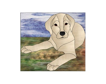 Labrador Retriever Stained Glass PATTERN