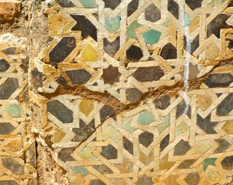 Moroccan photography - 4x6 photo print -  mosaic - ancient  - faded colors - North Africa - travel photography