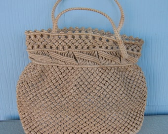 Natural Color Macrame Purse ~ Bags by Garay ~ Made in Japan