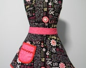 Valentines Apron-Womens Apron- Love is Sweet Valentines Full Sweetheart Apron