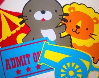 Circus Carnival Birthday Party Cutouts
