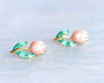 Tulips Earrings - Vintage Stud Earrings